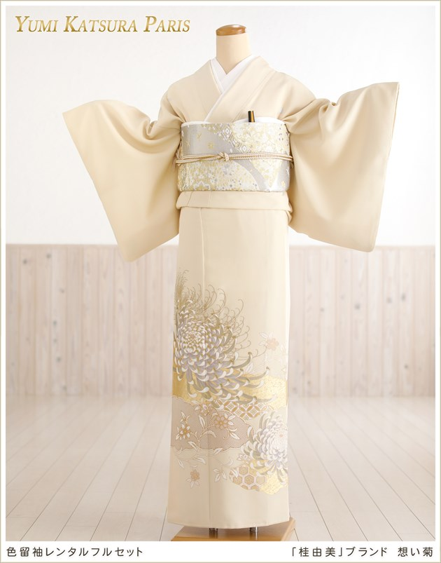 桂由美 色留袖レンタル「想い菊」