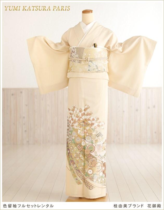 桂由美 色留袖レンタル「花御殿」