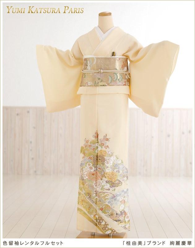 桂由美色留袖レンタル「絢麗慶華」