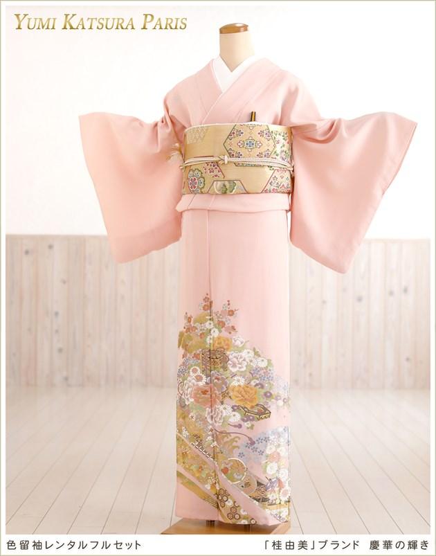 桂由美色留袖レンタル「慶華の輝き」