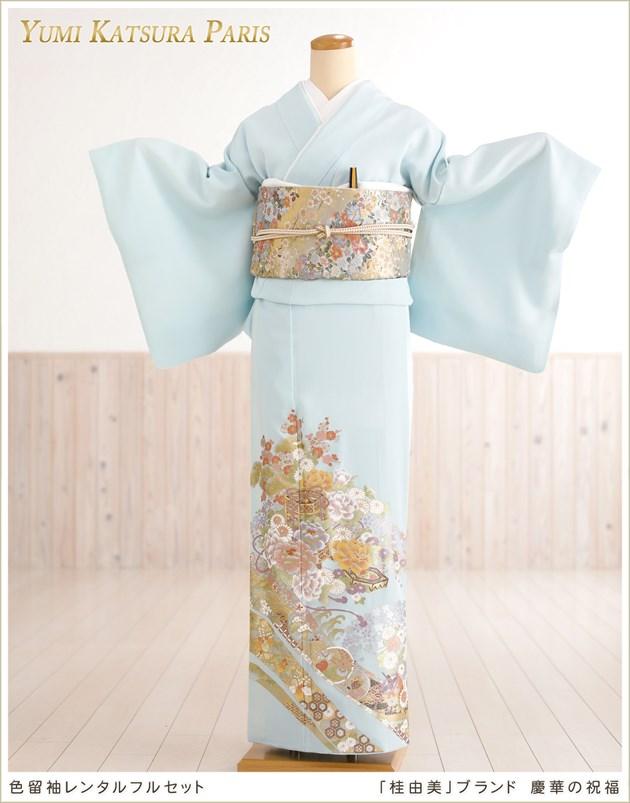 桂由美色留袖レンタル「慶華の祝福」