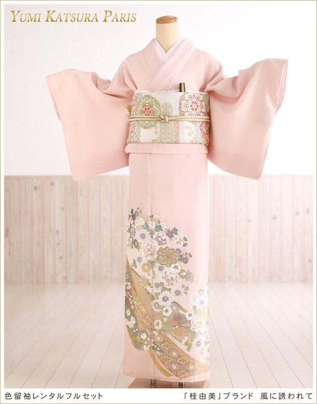 桂由美 色留袖レンタル「風に誘われて」