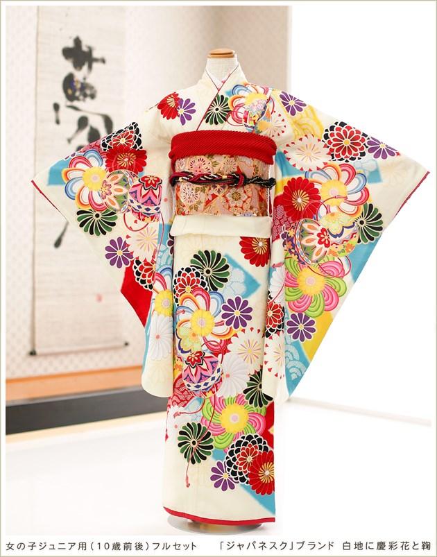 ぷちぷり「ジャパネスク」ブランド 白色に慶彩花と鞠