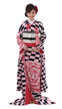 モデルが着用している花嫁和装の商品写真