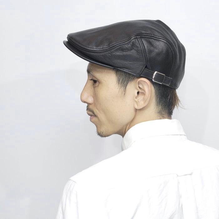 ハンチング メンズ 本革 日本製