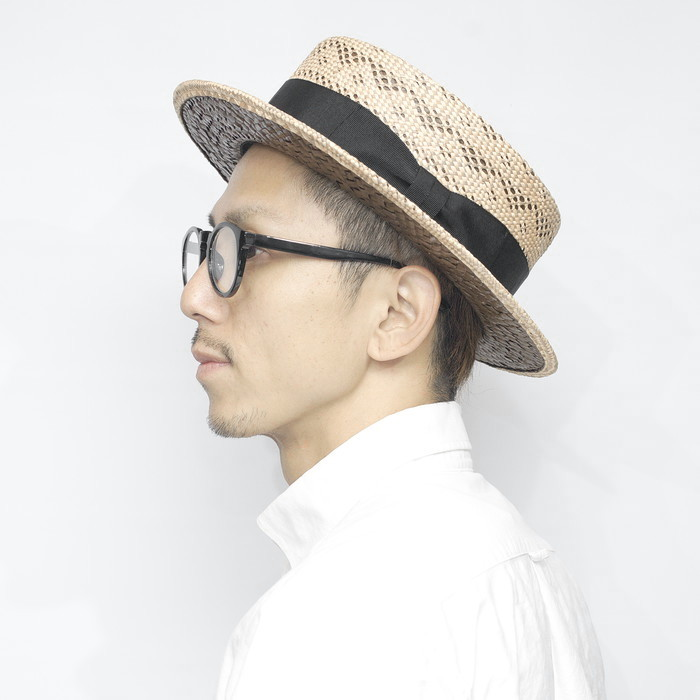 カンカン帽 紳士 帽子