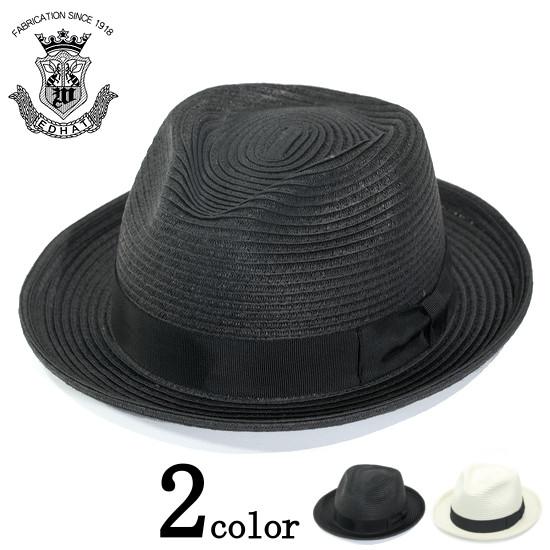 ストローハット メンズ 大きいサイズ 小さいサイズ ブラック 黒 白 ホワイト