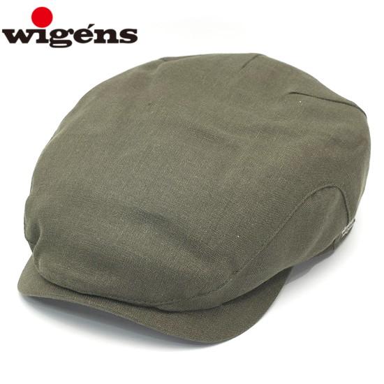 ハンチング メンズ 夏 リネン 麻 WIGENS ウィゲンズ 小さいサイズ 大きいサイズ