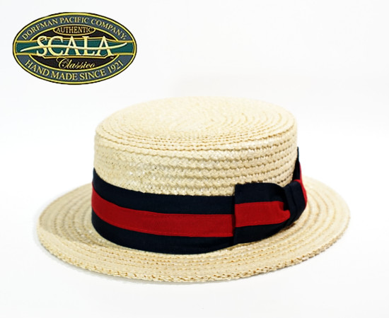 scala hat スカラハット カンカン帽 ボーターハット