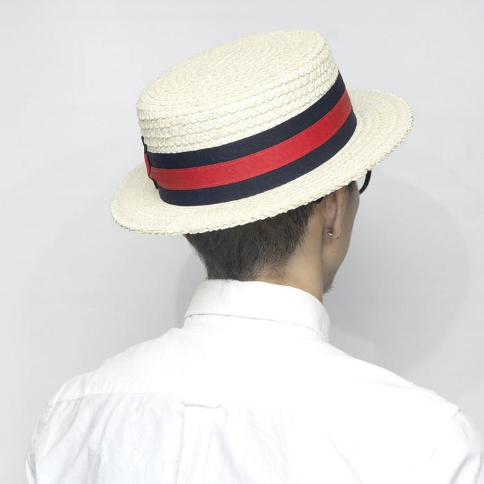 カンカン帽 メンズ 紳士 scalahat スカラーハット ストローハット
