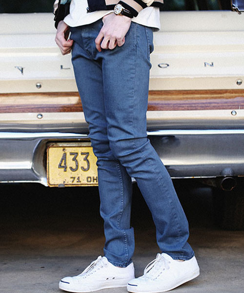 【MROLIVE(ミスターオリーブ)】M-7236-SUPER STRETCH DENIM /OVER DYED SKINNY PANTS スキニーパンツ