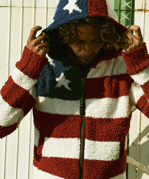【TMT(ティーエムティー)】TKNF1708-SHAGGY BOA US FLAG KNIT PARKA ニット