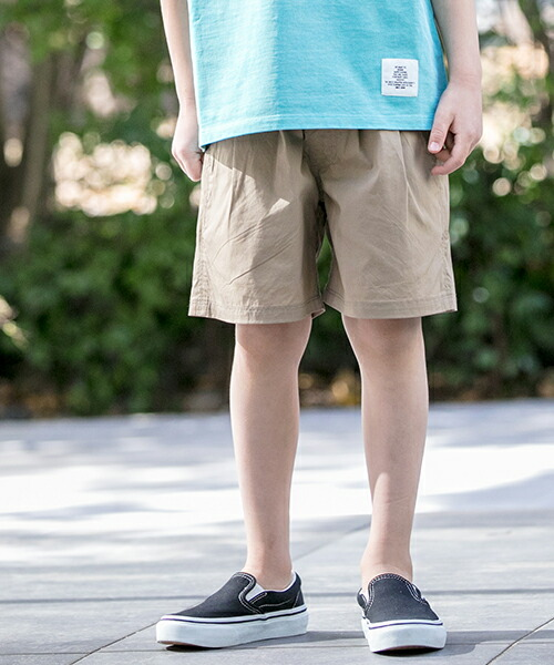 【Smoothy(スムージー)】19PT-13-SMOOTHY Stretch TypeWrite 2 TuckWide Shorts For Kid ショーツ