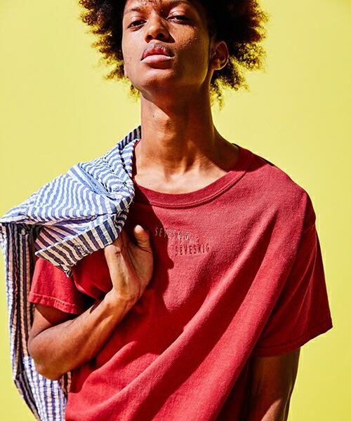 【SEVESKIG(セヴシグ)】PIGMENT EMBROIDERY T Tシャツ(CT-SV-KS-1001)