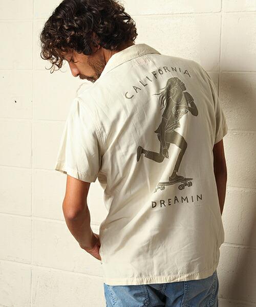 【TMT(ティーエムティー)】CALIFORNIA PRINT RAYON S-SL SHIRTS シャツ(TSHS1908)