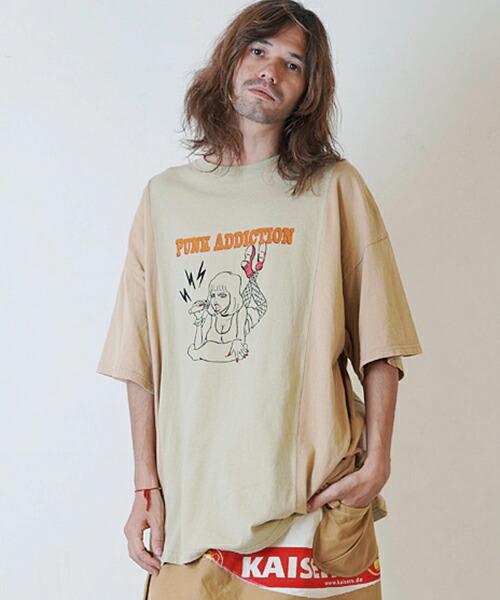 【masterkey(マスターキー)】PUNKADDICTION リメイクTシャツ(MK19S-C-24)