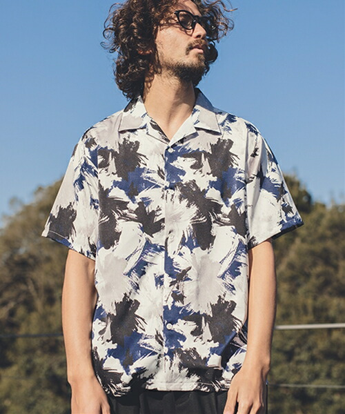 【ANGENEHM(アンゲネーム)】Geometric Open Color Shirts(MADE IN JAPAN) シャツ(ANG9-002)