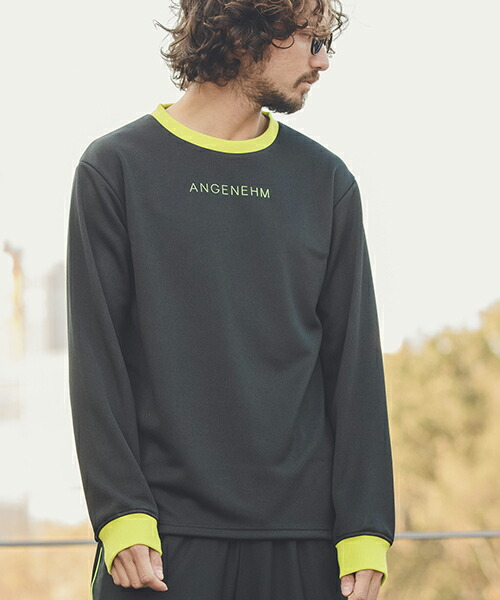 【ANGENEHM(アンゲネーム)】Rib Switch Smooth Long Sleeve Tee(MADE IN JAPAN) Tシャツ(ANG9-013)