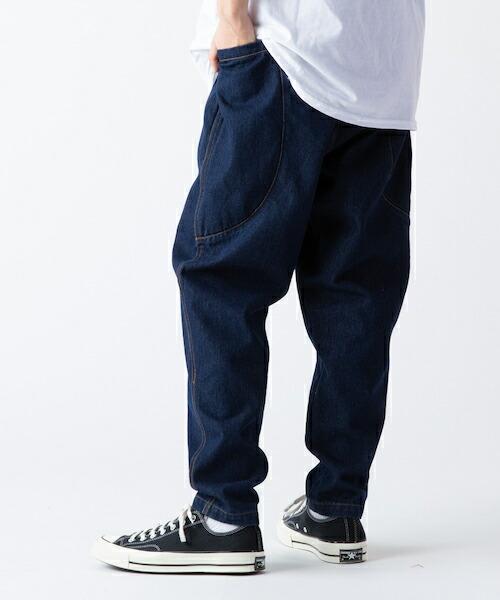 【rehacer(レアセル)】Big Pocket Wide Tapered Denim デニムパンツ(01190500020)