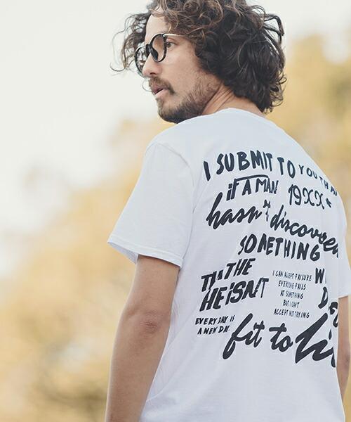 【ANGENEHM(アンゲネーム)】Back Graffiti Print Big Tee(MADE IN JAPAN) Tシャツ(ANG9-033)