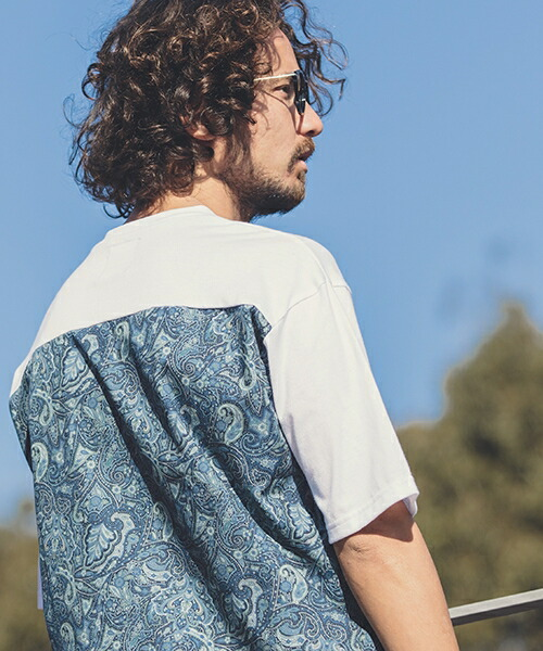 【ANGENEHM(アンゲネーム)】Back Paisley Big Tee(MADE IN JAPAN) Tシャツ(ANG9-028)