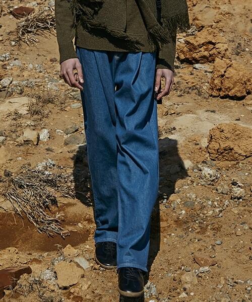 【MIHARAYASUHIRO】Wide Denim Pants パンツ(F02PT081-2)