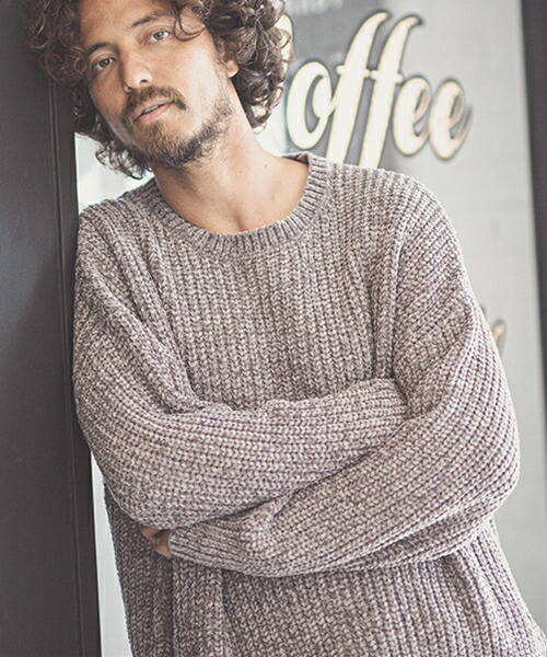 【CAMBIO(カンビオ)】Mole Yarn Over Size Knit Pullover プルオーバーニット