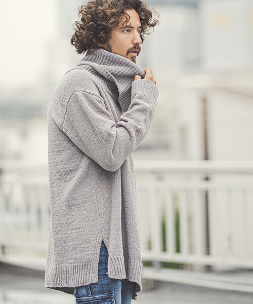 【CAMBIO(カンビオ)】Mole Yarn Over Size Turtle Neck Knit Pullover ニット