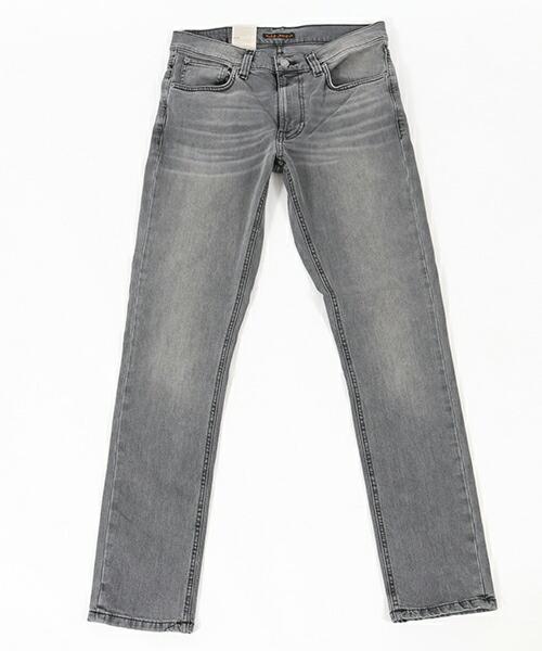 【Nudie Jeans(ヌーディージーンズ)】LEAN DEAN MID GREY COMFORT ストレッチデニムパンツ(112928032)