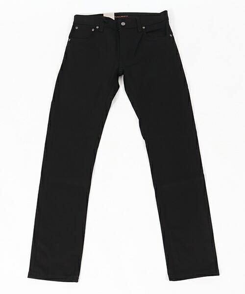 【Nudie Jeans(ヌーディージーンズ)】THIN FINN792 DRY EVER BLACK デニムパンツ(112694032)