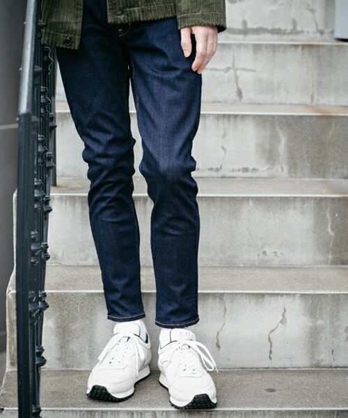 【MROLIVE(ミスターオリーブ)】SUPER STRETCH DENIM -ONE WASH ANKLE CUT WORKERS EASY PANTS デニムパンツ(M-19305)