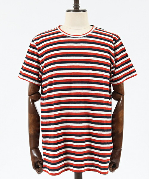 【Nudie Jeans(ヌーディージーンズ)】ANDERS TRICOLOUR STRIPE Tシャツ(131623)
