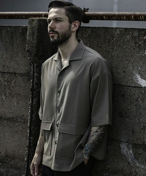 【MROLIVE(ミスターオリーブ)】CLASSIC OX POLYESTER -HALF SLEEVE ADVENTURE SHIRT シャツ(M-20138)