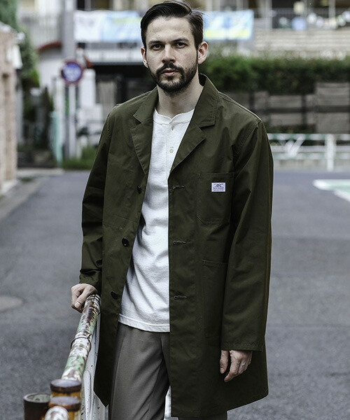 【MROLIVE(ミスターオリーブ)】TOUGH & THIN MATERIAL -WORKERS SHOP COAT コート(M-20105)