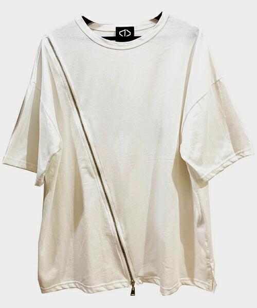 【ACUOD by CHANU(アクオドバイチャヌ)】Diagonal Zip T-Shirts Tシャツ(AC-20SS-DZTS)