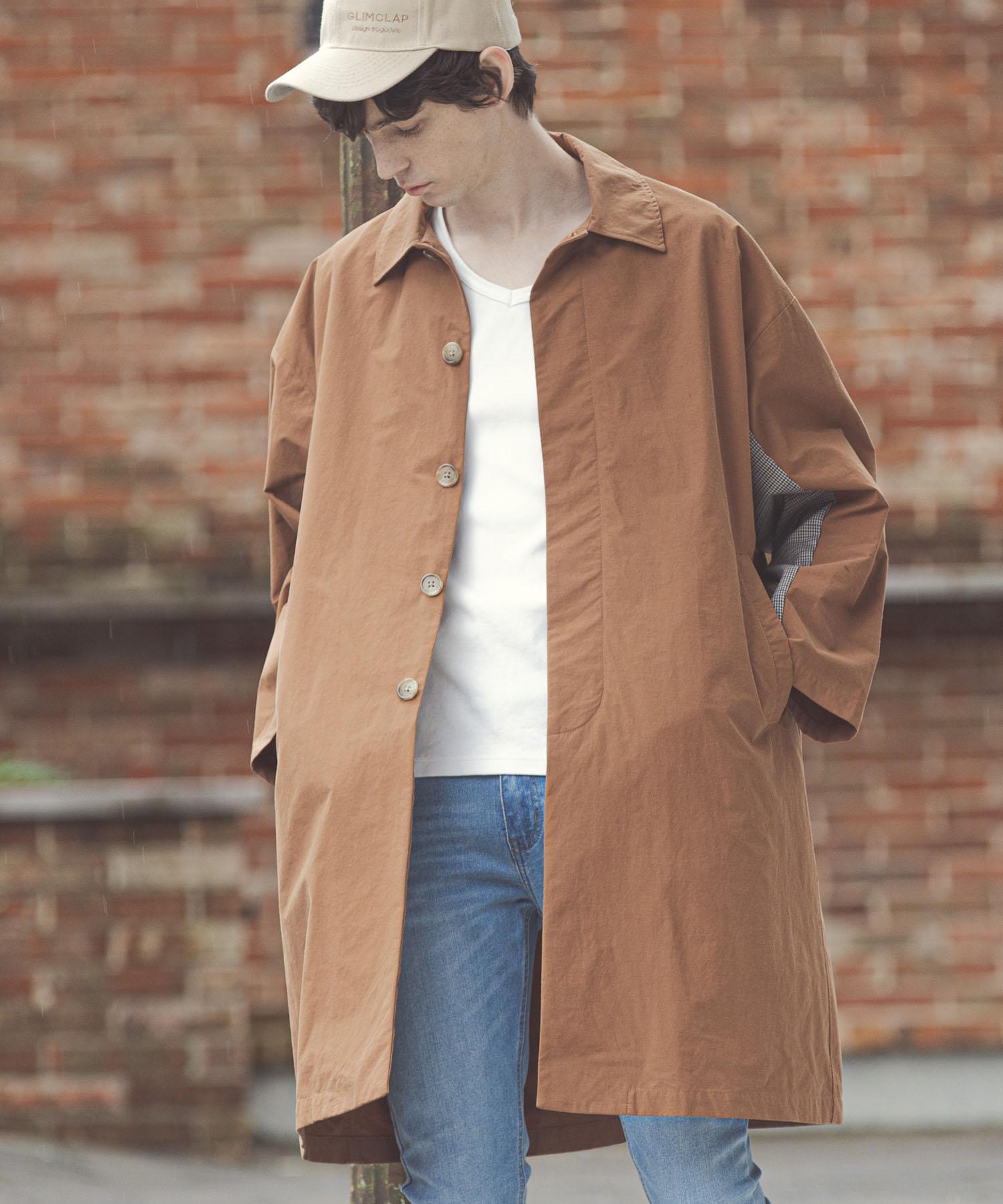 【GLIMCLAP(グリムクラップ)】Loose silhouette Balmacaan Coat コート(01gls-ca)