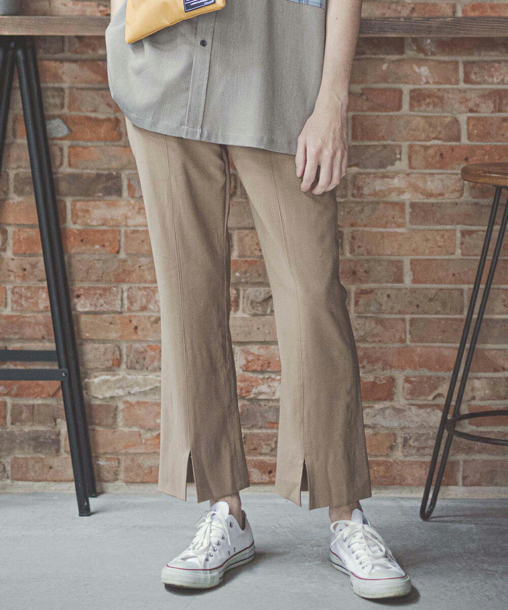 【GLIMCLAP(グリムクラップ)】Slit Trouser パンツ(013gls-ca)