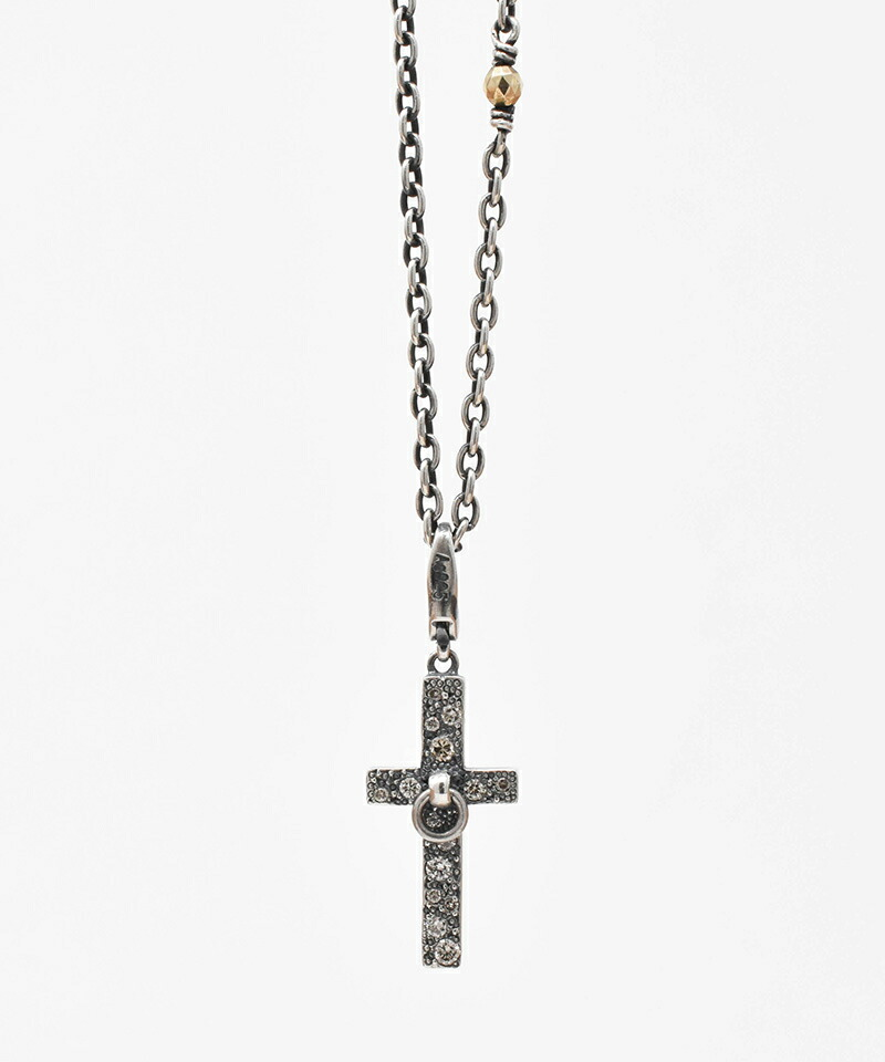【IDEALISM SOUND(イデアリズム サウンド)】Cross & Ring Negklage with Diamond ネックレス(S19072)