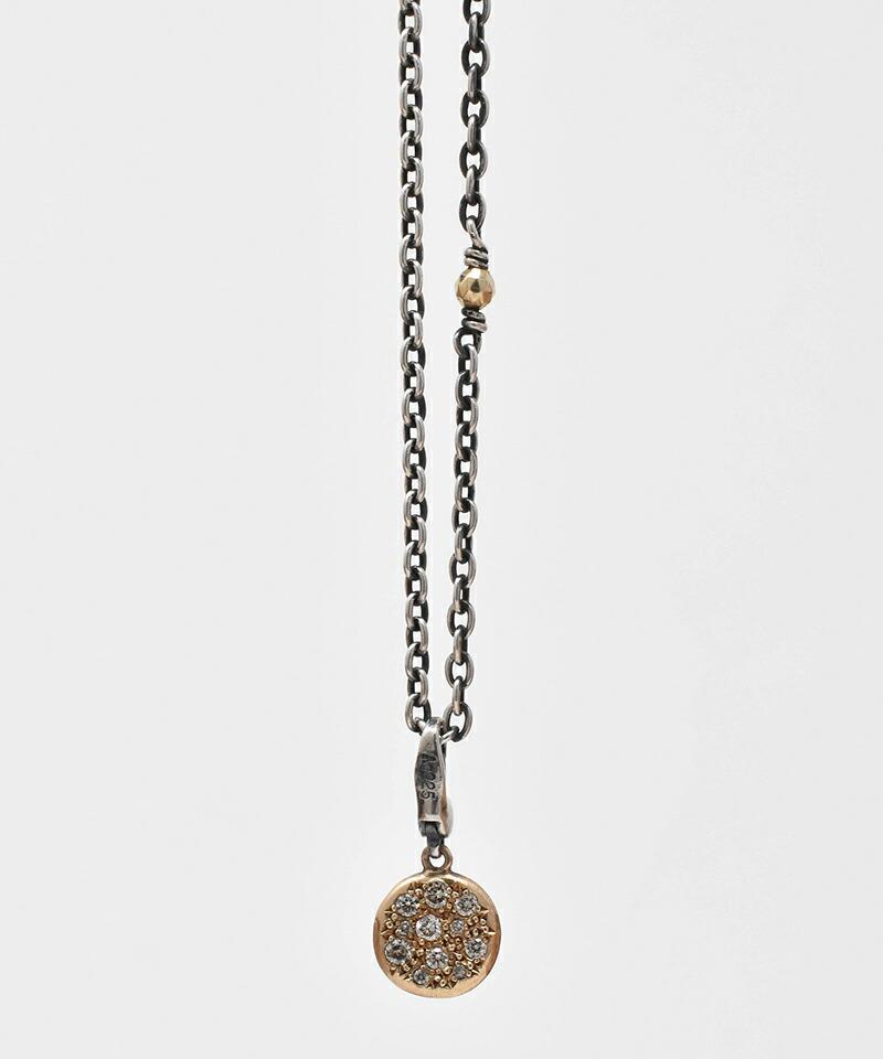 【IDEALISM SOUND(イデアリズム サウンド)】10KYG Circle Necklace with Diamond ネックレス(S19077)