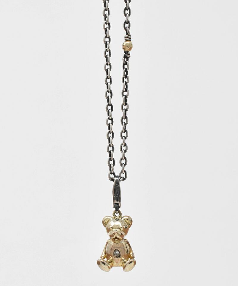 【IDEALISM SOUND(イデアリズム サウンド)】10KYG Bear Necklace with Diamond ネックレス(S19079)