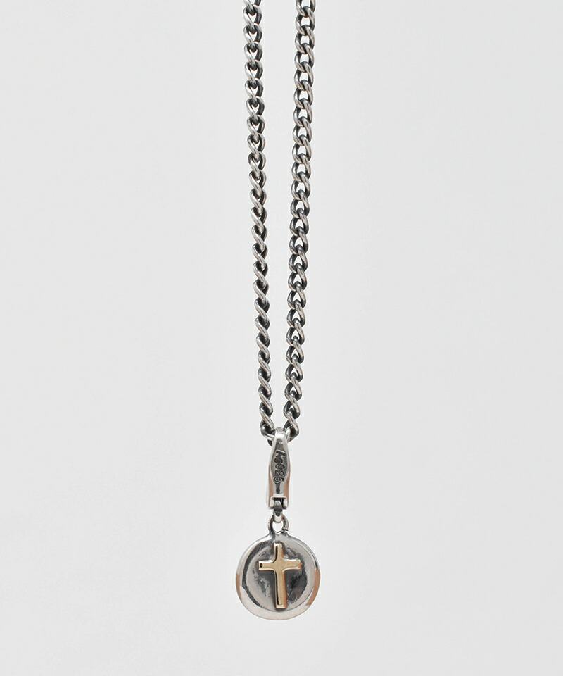 【IDEALISM SOUND(イデアリズム サウンド)】10KYG Cross on Circle Combination Necklace ネックレス(S19086)