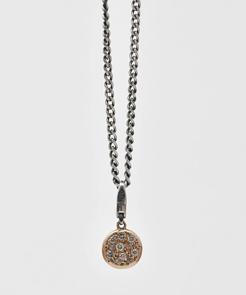 【IDEALISM SOUND(イデアリズム サウンド)】10KYG Circle Necklace with Diamond ネックレス(S19089)