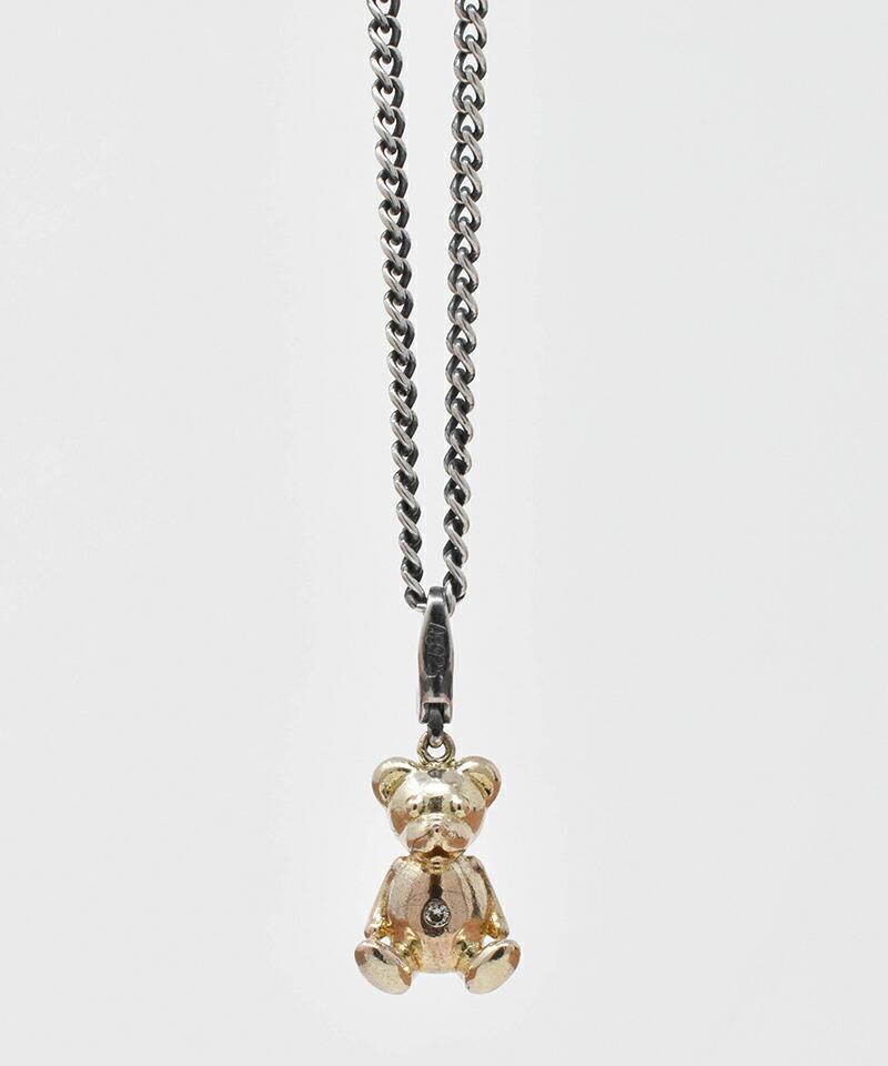 【IDEALISM SOUND(イデアリズム サウンド)】10KYG Bear Necklace with Diamond ネックレス(S19091)