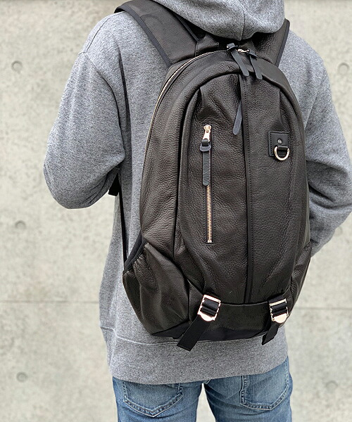 【DECADE(ディケイド)】Oiled Cow Leather Back Pack バックパック(DCD-01200L)