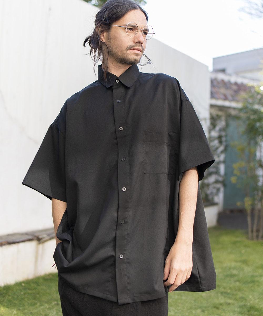【CAMBIO(カンビオ)】Super Big Silhoutte Short Sleeve Shirts シャツ