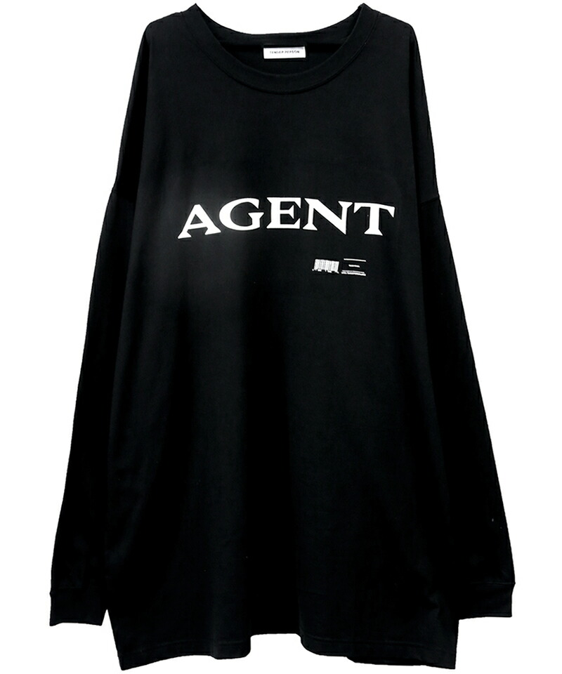 【TENDER PERSON(テンダーパーソン)】AGENT OVERSIZED LONG TEE(SF-TO-3236)