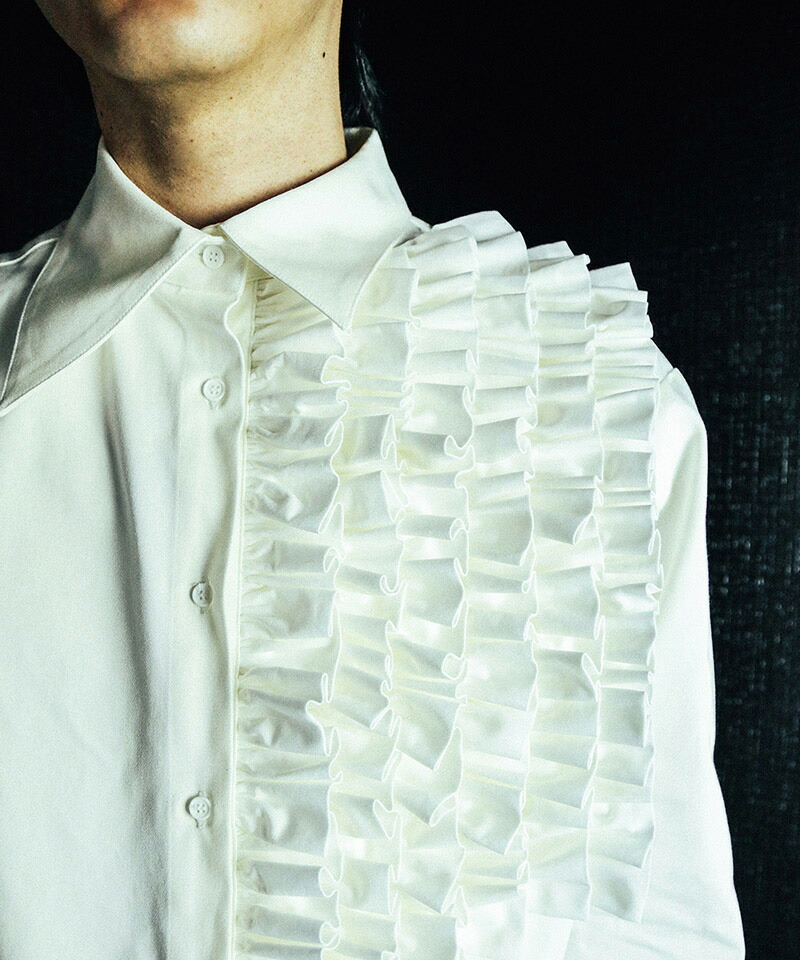 【TENDER PERSON(テンダーパーソン)】FRILL MIX STANDARD SHIRT シャツ(SF-TO-2205)