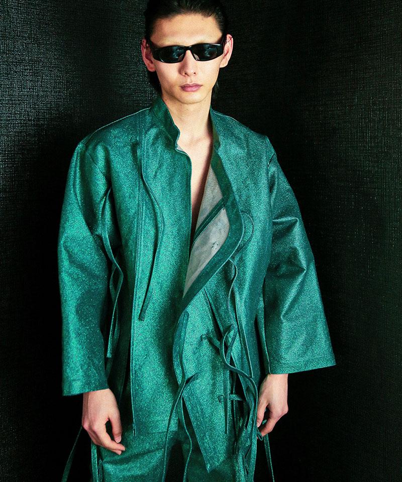 【TENDER PERSON(テンダーパーソン)】DENIM CHINA SHIRT シャツ(SF-OU-2314-B)