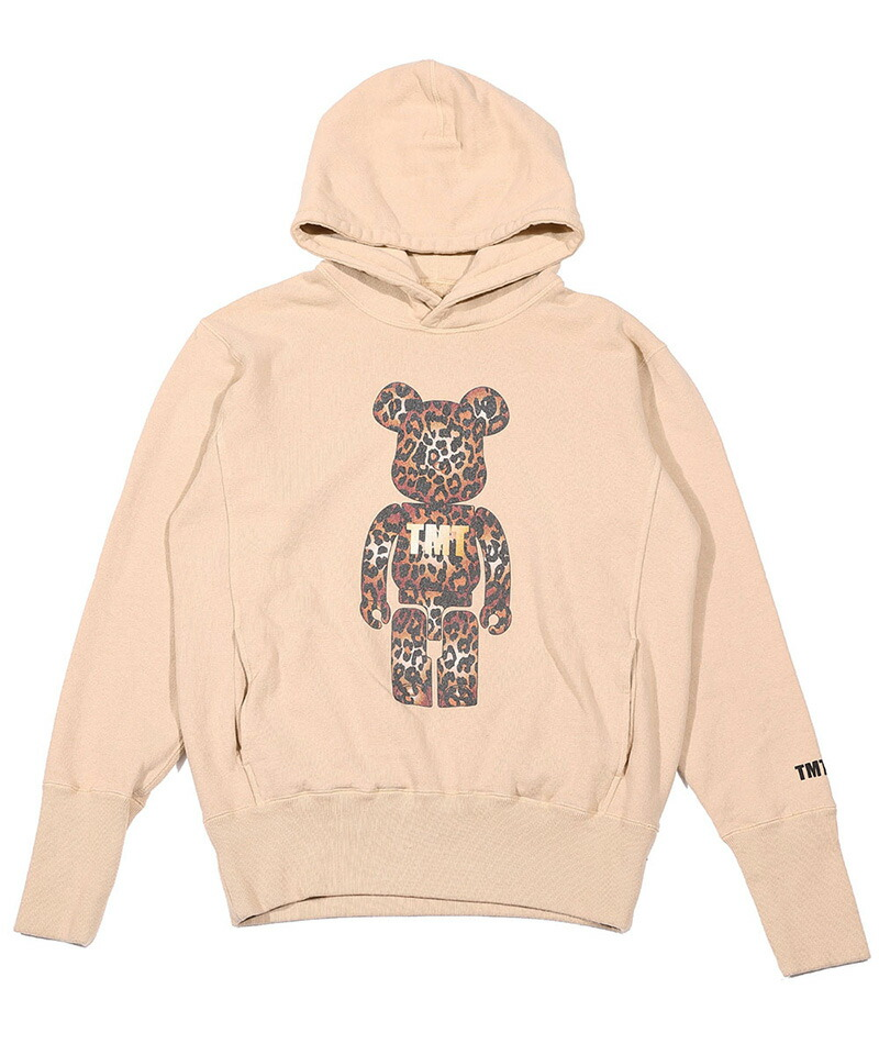 【TMT(ティーエムティー)】BE@RBRICK×TMT VINTAGE FRENCH TERRY PULLOVER HOODIE(LEOPARD) パーカー(TSW-F19BA02)