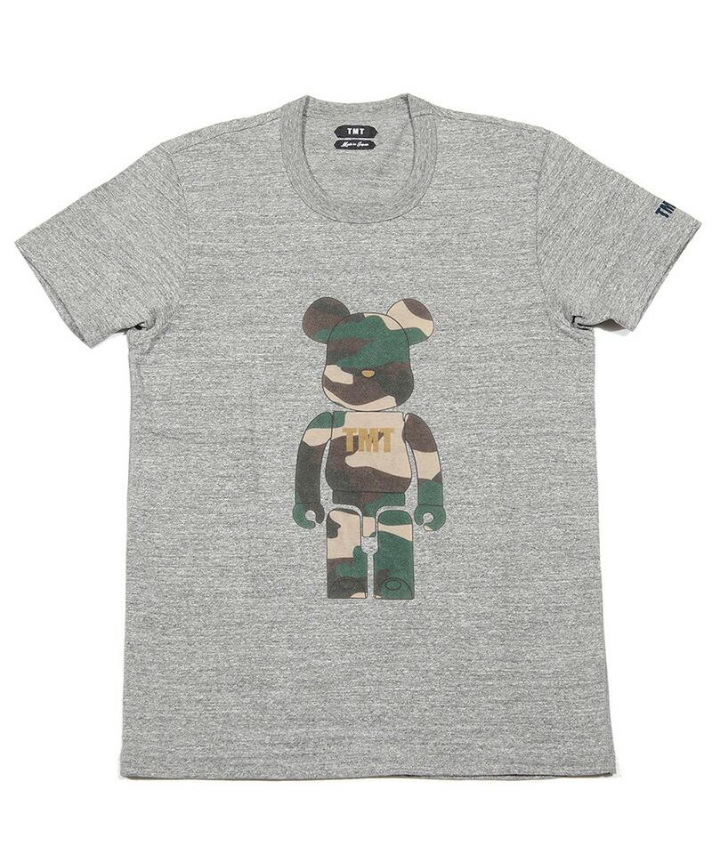 【TMT(ティーエムティー)】BE@RBRICK×TMT S-SL RAFI JERSEY(CAMO) Tシャツ(TCS-S19BA02)